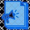 Megaphone Files Paper Icon