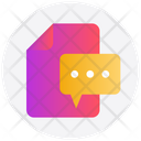 Message File Chat Icon