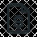 Money File Document Icon