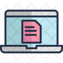 File Online Study Online Laptop Icon