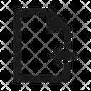 File Import Receive Icon