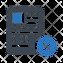 Cancel Delete Document Icon