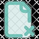 File Remove Ou Lc Document Close Icon