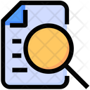 Document Search Magnify Glass Icon