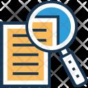 File Search Content Icon