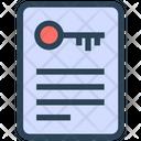Seo Document Key Icon