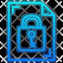 Key Lock Document Icon