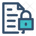 File Security Lock File Document Icon