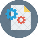 File Settings Cogs Icon