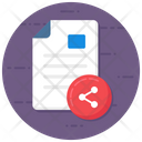 File Share File Transfer Share Document Icon