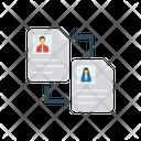 File Sharing Transfer Exchange Icon