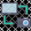 File Sharing File Transfer Laptop Icon