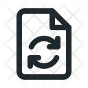 Sync File Document Icon