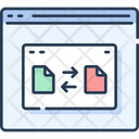 Website Wireframe File Transfer Online File Transfer Icon