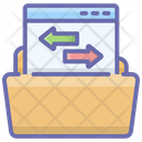 File Transfer Data Transfer Folder Transfer Icon