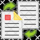 File Transfer Document Transfer Paper Transfer Icon