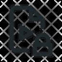 Video Locked File Icon