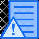 File Warning File Warning Icon