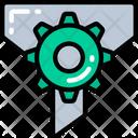 Filering Process Funnel Cog Icon