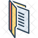 Files Dossier Record Icon