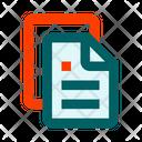Files Text Pile Icon