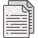 Multiple Text Documents Icon