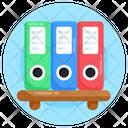 Files Rack Files Shelf Binders Icon