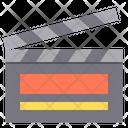 Clapperboard Film Movie Icon