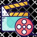 Clapperboard Slat Board Film Reel Icon
