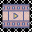 Movie Cinema Reel Icon