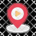 Location Pin Video Icon