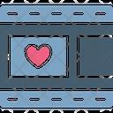 Film Strip Heart Movie Strip Icon