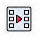 Video Filmstrip Media Icon