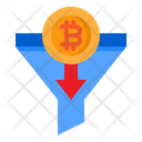 Bitcoin Cryptocurrency Filter Icon
