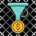 Filter Sort Dollar Icon