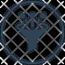 Filter Big Data Funnel Icon