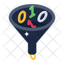 Data Filtration Data Extraction Data Funnel Icon