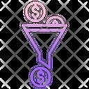 Mfunnel Business Filter Dollar Dollar Icon