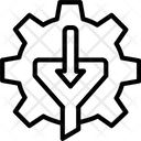 Filtering Cogwheel Method Icon