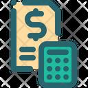 Finance Receipt Calc Icon
