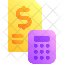 Finance Receipt Calc Icon