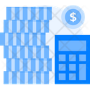 Accounting Budget Calculation Calculating Money Icon