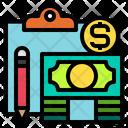 Clipboard Economy Money Icon