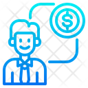 Finance Advisor Bank Manager Coin Icon
