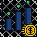 Graphic Graph Money Icon