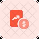 Finance Analytics Finance Growth Report Graph Icon