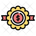 Badge Bank Coin Icon