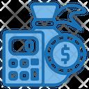 Money Bag Calculator Tools Account Icon