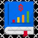 Book Money Bar Graph Icon
