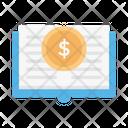 Finance Book Dollar Money Icon
